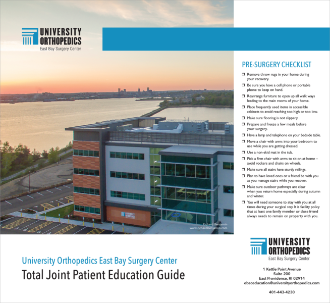 University Orthopedics Total Joint Brochure