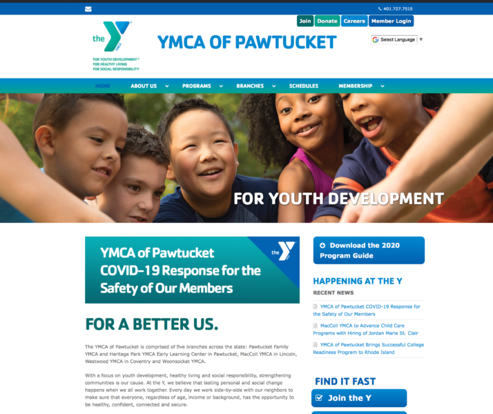 YMCA Of Pawtucket Website